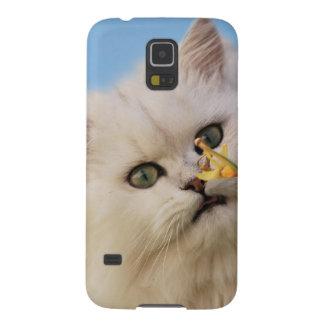 Gatito que ama el narciso carcasa de galaxy s5