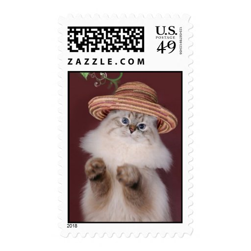 Gatito que lleva un sello del gorra por Bestpeople