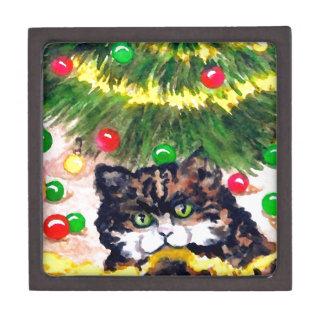 Gatito que pone en gato del día de fiesta de las d caja de joyas de calidad