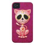 Gatito rosado del azúcar del zombi iPhone 4 Case-Mate protector
