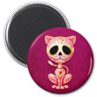 Gatito rosado del azúcar del zombi iman de frigorífico