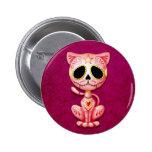 Gatito rosado del azúcar del zombi pin