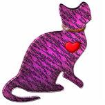 Gatito rosado del tigre escultura fotográfica