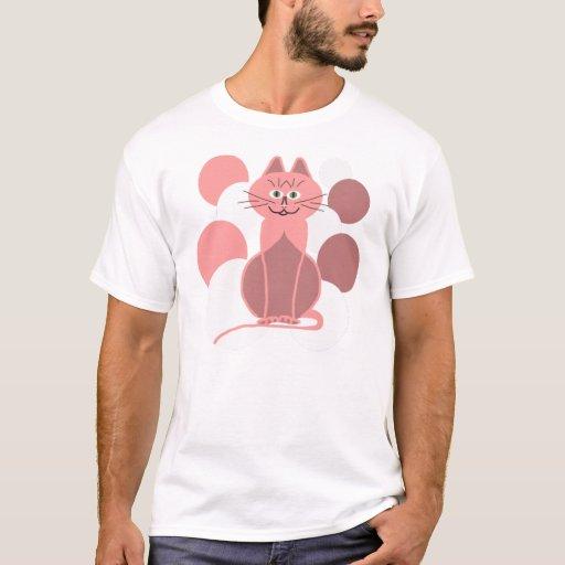 gatito rosado playera