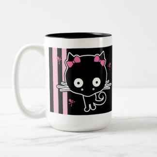 Gatito rosado tazas de café