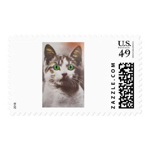 Gatito Sello Postal