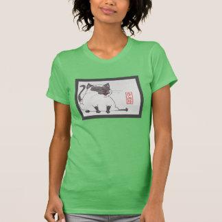 Gatito siamés gordo de Lil en camiseta de la Poleras