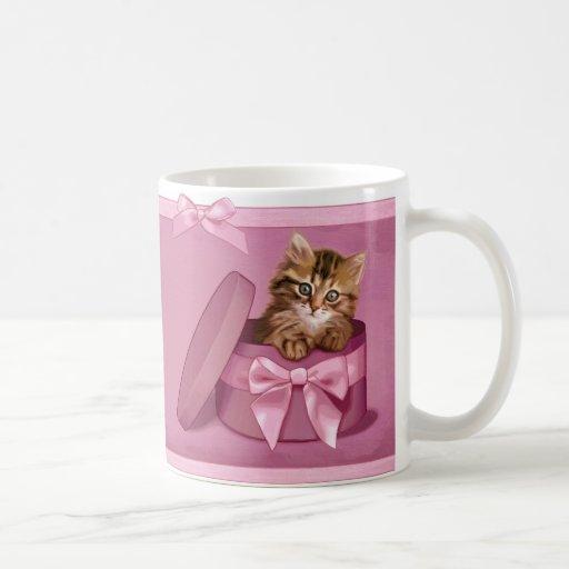 Gatito siberiano taza básica blanca