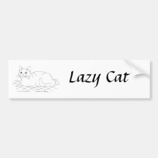 Gatito sonriente etiqueta de parachoque