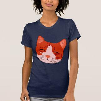 Gatito sonriente en rojo camiseta