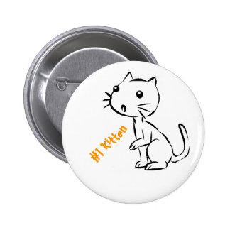 Gatito sorprendido #1 pin redondo de 2 pulgadas