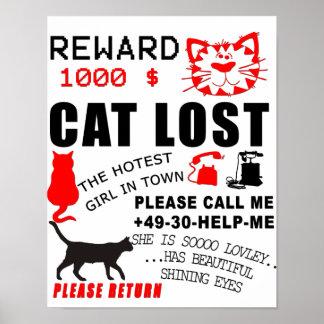 Gatito suave perdido póster