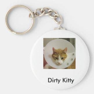 Gatito sucio llavero personalizado