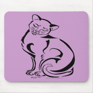 Gatito travieso (ningún texto) Mousepad