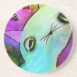Gatito triste lindo del ojo del brillo de Gato™ de Portavasos