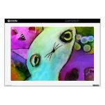 Gatito triste lindo del ojo del brillo de Gato™ de Portátil 43,2cm Skin
