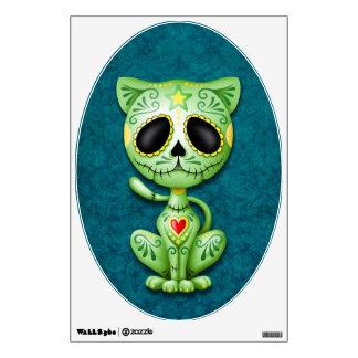 Gatito verde y azul del azúcar del zombi