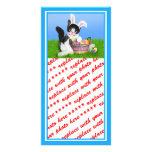 Gatito w/Background de Pascua (añada su texto) Tarjetas Personales Con Fotos