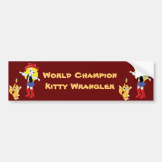 Gatito Wrangler del campeón del mundo Pegatina Para Auto