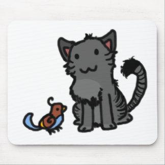 Gatito y chirrido alfombrilla de raton