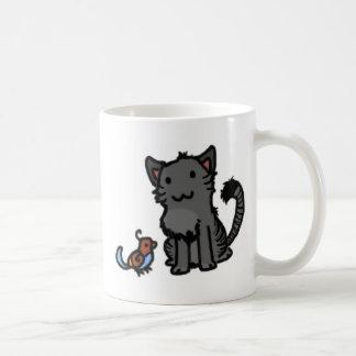 Gatito y chirrido taza de café