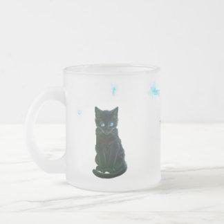 gatito y hadas de la falta taza de cristal