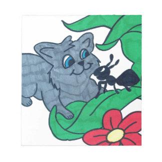 gatito y hormiga libreta para notas