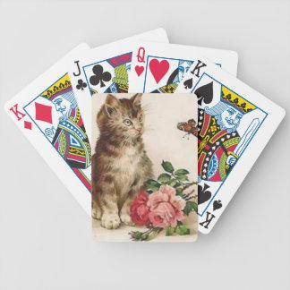 Gatito y mariposa baraja cartas de poker