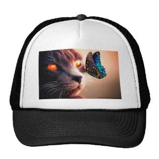 Gatito y mariposa gorro de camionero