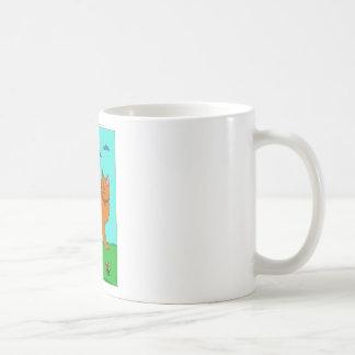 Gatito y mariposa rojos tazas de café