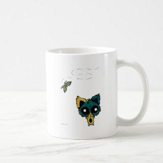 Gatito y mariposas de Chibi del animado Taza