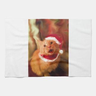 Gatitos 1 del navidad toallas de cocina