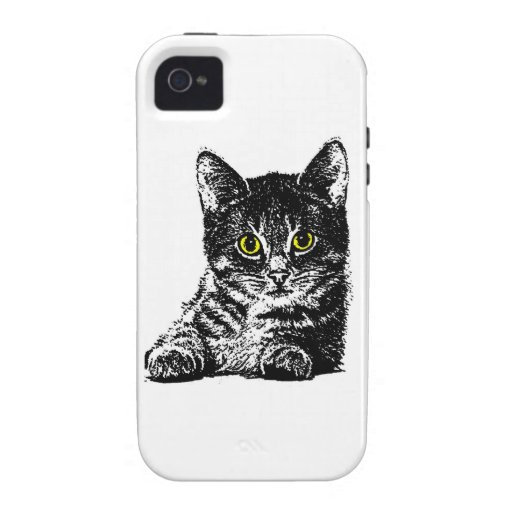 Gatitos 1 iPhone 4/4S carcasas