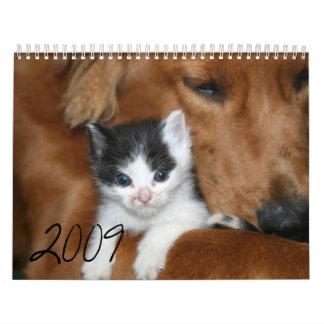 gatitos, 2009 - modificado para requisitos particu calendario de pared