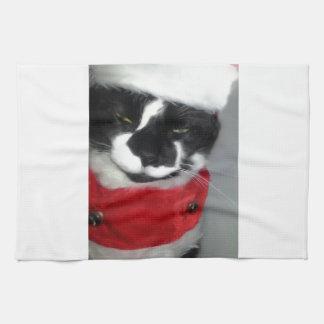 Gatitos 3 del navidad toallas de mano