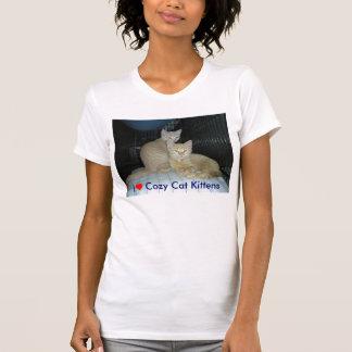 Gatitos acogedores del gato del ♥ I, gatitos Tee Shirt