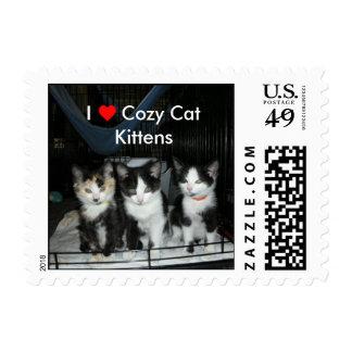 Gatitos acogedores SM del gato del corazón I Sellos