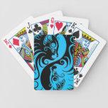 Gatitos azules y negros de Yin Yang Barajas De Cartas