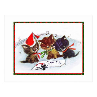 Gatitos con el ratón del maestro tarjetas postales