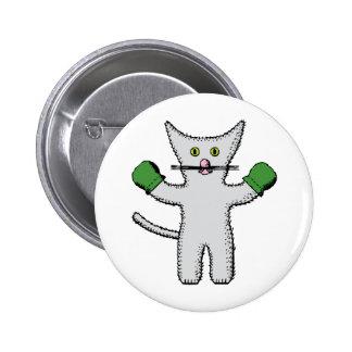 Gatitos con las manoplas pin redondo 5 cm
