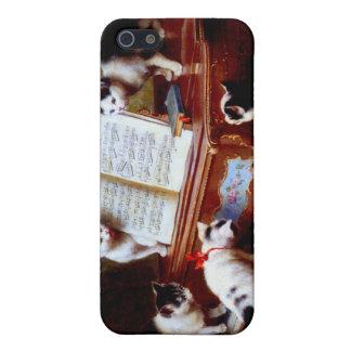 Gatitos de Carl Reichert que juegan el piano iPhone 5 Carcasas