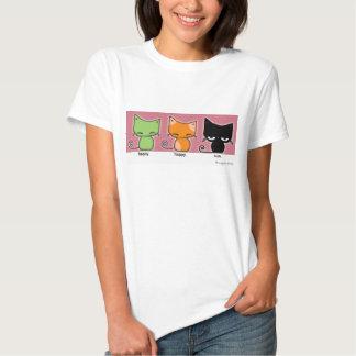¡gatitos de happy.happy.meh - versión 2! remera
