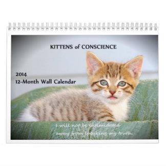 Gatitos de la conciencia calendario de pared