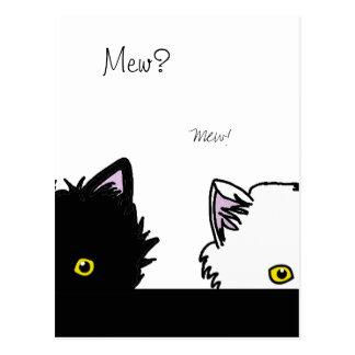 Gatitos de la mirada furtiva tarjeta postal