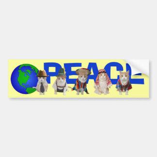 Gatitos de la paz etiqueta de parachoque