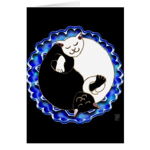 gatitos de yang del yin tarjetas