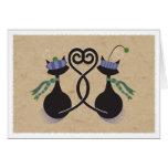 Gatitos del amor de la tarjeta del día de San Vale