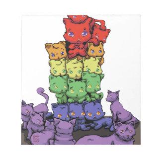 Gatitos del arco iris blocs de papel