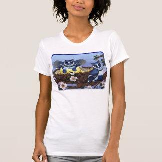 Gatitos del arrendajo azul, camisa del arte de la