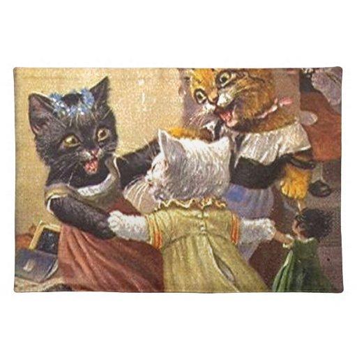 Gatitos del baile manteles